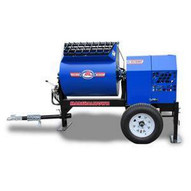 Marshalltown 1620MP75E3BO230 16 Cu. Ft Hydraulic Mortar Mixer W7.5hp 3 Phase Electric 230v 2 Ball Hitch Outriggers-1