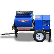 Marshalltown 1220MP75E3PO460 12 Cu. Ft Hydraulic Mortar Mixer W7.5hp 3 Phase Electric 460v Pintle Hitch Outriggers-1