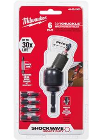 Milwaukee Electric Tool 48-32-2300 6 Pc Shockwave 30� Nuckle Bitholder Set-1