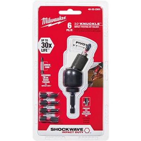 Milwaukee Electric Tool 48-32-2300 6 Pc Shockwave 30� Nuckle Bitholder Set-2