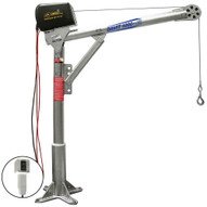 OZ Lifting Products OZ1000DAV-DCW 1000 Lbs. Steel Davit Crane With 12v Dc Electric Winch (MADE IN USA)-1