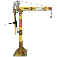 OZ Lifting Products OZ1200DAV 1200 Lbs. Composite Davit Crane With Manual Winch (Made In USA)-1