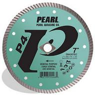 Pearl Abrasive Dia008ec 8 X .080 Dia 58 Pearl P4 Gen. Purpose Flat Core Turbo Blade 12mm Rim-1