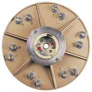 Pearl Abrasive Hex1706ezclt 15 Plate With Clutch And 6 Ez Pad Pins-1