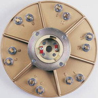 Pearl Abrasive Hex1712ezclt 15 Plate With Clutch And 12 Ez Pad Pins-2