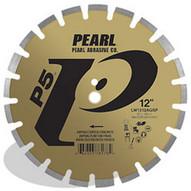 Pearl Abrasive Lw1412agsp2 14 X .125 X 20mm Pearl P5 Asphalt & Green Concrete Segmented Blade 12mm Rim-1