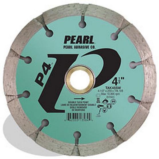 Pearl Abrasive Tak45sw 4-12 X .250 X 78 58 Pearl P4 Sandwich Tuck Point Blade 10mm Rim-1