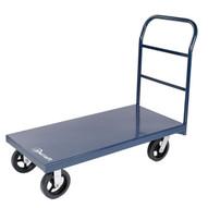 Jescraft PC-424MR8-2R2S Platform Cart - 24 X 48 Heavy Duty Steel Platform Cart W 8 Mold On Rubber Casters-1