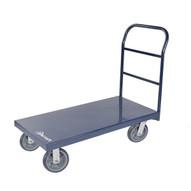 Jescraft PC-430PL8-2R2S Platform Cart - 30'' X 48'' Steel Platform Cart W 8'' Hpe On Polyolefin Core Casters (2r2s)-1