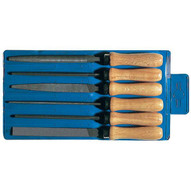 Pferd 17012 4 Key File Set Wooden Handles 6 Pieces Second Cut-1