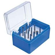 Pferd 26525 12 Piece Tc-bur Set - 18 Shank Plastic Case Single Cut-1