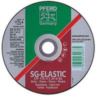 Pferd 61707 7 X 14 Grinding Wheel 58-11 Thd. T28 C 24 Q Sg - Saucer (10 In A Box)-1