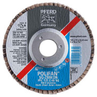 Pferd 62195 5 X 58-11 Polifan� Flap Disc - Conical Sg Zirconia 36 Grit (10 In A Box)-1