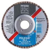 Pferd 62254 4-12 X 58-11 Polifan� Flap Disc - Flat Sg Aluminum Oxide 80 Grit (10 In A Box)-1