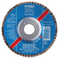 Pferd 62681 5 X 58-11 Polifan� Flap Disc - Conical Sgp Ceramic Oxide Cool 40 Grit (10 In A Box)-1
