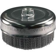 Advance Brush 83813 4 M-brad Nylon Abrasive Cup Brush 58-11 Thread .040 Sic - 80 Grit-1