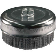 Advance Brush 83821 6 M-brad Nylon Abrasive Cup Brush 58-11 Thread .040 Sic - 80 Grit-1