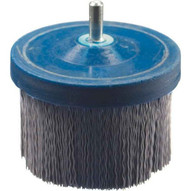 Advance Brush 84257 2-12 X 14 Shank Mtd M-brad Cup Brush Round Crimped Fill .040 Sic 120 Grit-1
