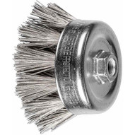 Pferd 84348 4 OD Diamond Coated Wire Cup Brush - 270 grit 58-11 thread (PERFECT MILL SCALE REMOVAL)-1