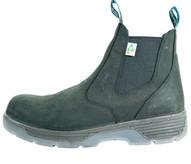 Redback Boots Usa BTCST9 Blue Tongue Men's Station 6''slip On Composite Toe Black-1
