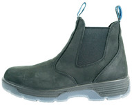 Redback Boots Usa BTST10.5 Blue Tongue Men's Station 6''slip On Soft Toe Black Work-1