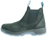 Redback Boots Usa BTST8.5 Blue Tongue Men's Station 6''slip On Soft Toe Black Work-1
