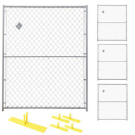 Perimeter Patrol RF 0505 CL (4) Panels Wclamps (5) Bases- 5 X 6 Chain Link Barrier Kit-1