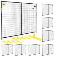 Perimeter Patrol RF 10005 - 8 (8) Panels Wclamps (9) Bases- 7.5 X 6 Perimeter Panel - Black Barrier Kit-1
