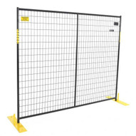 Perimeter Patrol RF 10005 Individual Black 7.5ft X 6ft High Welded Wire Fence Panel (legs not included)-1
