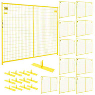 Perimeter Patrol RF 10006 - 12 (12) Panels Wclamps (13) Bases- 7.5 X 6 Perimeter Panel - Yellow Barrier Kit-1
