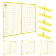 Perimeter Patrol RF 10006 - 4 (4) Panels Wclamps (5) Bases- 7.5 X 6 Perimeter Panel - Yellow Barrier Kit-1