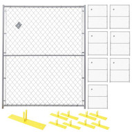 Perimeter Patrol RF 1010 CL (8) Panels Wclamps (9) Bases- 5 X 6 Chain Link Barrier Kit-1