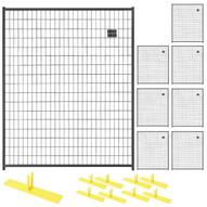 Perimeter Patrol RF 1010 WWP (8) Panels Wclamps (9) Bases- 5 X 6 Welded Wire - Black Barrier Kit-1