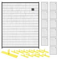 Perimeter Patrol RF 1020 WWP (12) Panels Wclamps (13) Bases- 5 X 6 Welded Wire - Black Barrier Kit-1