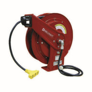 Reelcraft L 70100 123 9 12 Awg 3 Cond X 100' 15 Amp Tri-tap Outlet Cord Reel With Cord-1