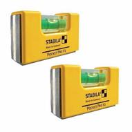 Stabila 11901 Pocket Pro Magnetic Level Wholster (2 Pack)-2