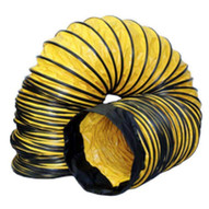 Schaefer Fan AM-DS0815 Standard Flexible Ducting 8x15' With Cuff And Buckle Endsyellow-1