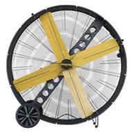Schaefer Fan MAC-48-BDF 48 High Capacity Belt Drive Drum Fan Black-1