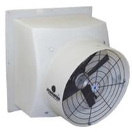 Schaefer Fan PFM244P12 24 Direct Drive Poly Exhaust Fan Poly Shutter White-1
