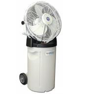Schaefer Fan PVM18C Portable Misting Fan With Tank Wheels Handle And White 18 3-speed Fan-1