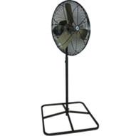 Schaefer Fan TW24B-PB Twister 24 Heavy Duty Oscillating Pedestal Fan Black Square Black Pedestal-1