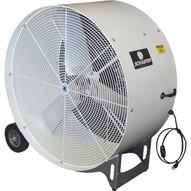 Schaefer Fan Vkm42-2-b-o 42 Versa-kool Mobile Spot Cooler Fan 1 Hp 2-speed Osha Guards Black-1