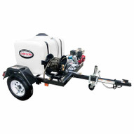 Simpson 95000 3200 Psi At 2.8 Gpm Honda Gx200 With Cat Triplex Plunger Pump Cold Water Professional Gas Pressure Washer Trailer-4