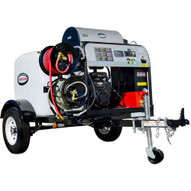 Simpson 95006 4000 Psi At 4.0 Gpm Vanguard V-twin With Comet Triplex Plunger Pump Hot Water Professional Gas Pressure Washer Trailer-2