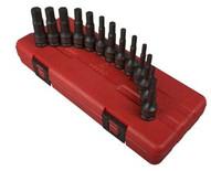 Sunex Tools 3649 13pc 38 Dr Fractional &metric Hex Impact Driver Set-1