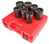 Sunex Tools 4667 7 Piece 3 4 Drive Truck Pinon Locknut Impact Socket Set-1
