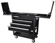 Sunex Tools SU8035XTBK 3 Drawer Slide Top Utilitycart W Power - Black-1