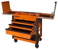 Sunex Tools 8035XTOR 3 Drawer Slide Top Utilitycart W Power - Orange-1