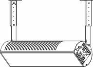 Sunstar Heating 44560352 Glass Wall Ceiling Telescopic Mounting Bracket Kit- 15-30 Overhead Space-1