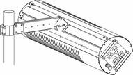 Sunstar Heating 44560600 Glass 3 Pole Mounting Bracket Kit.-1